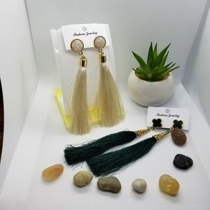 They are 2 thread earrings.